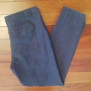 Ann Taylor LOFT Gray Linen Blend Pants